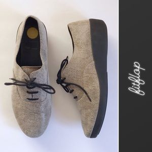 Fitflop F-POP Stone Leather Lace Up Oxford • 8.5
